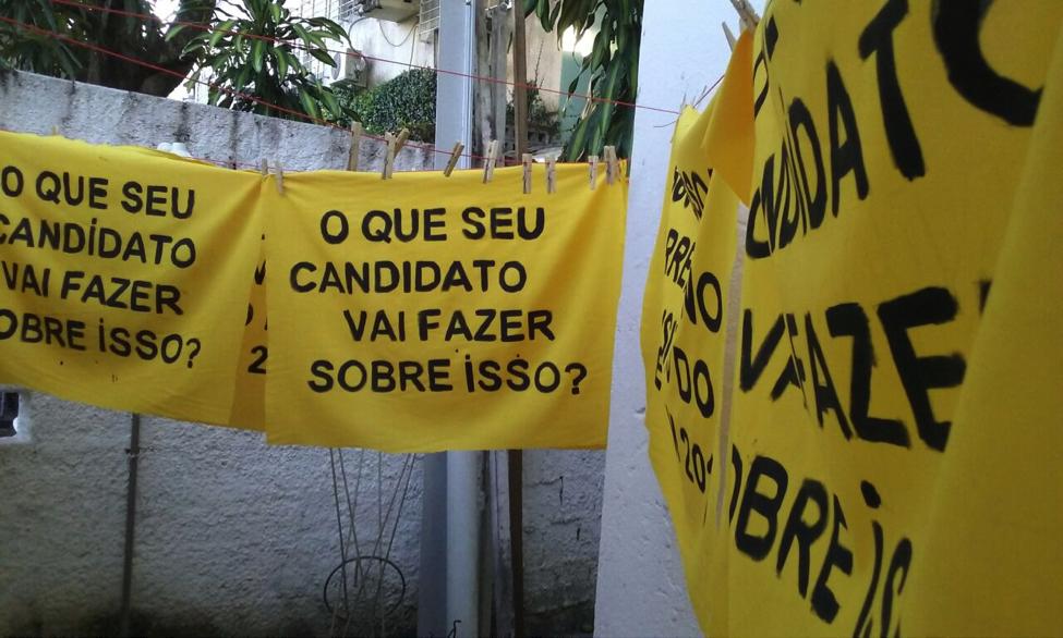Produção de banners para a ação direta.