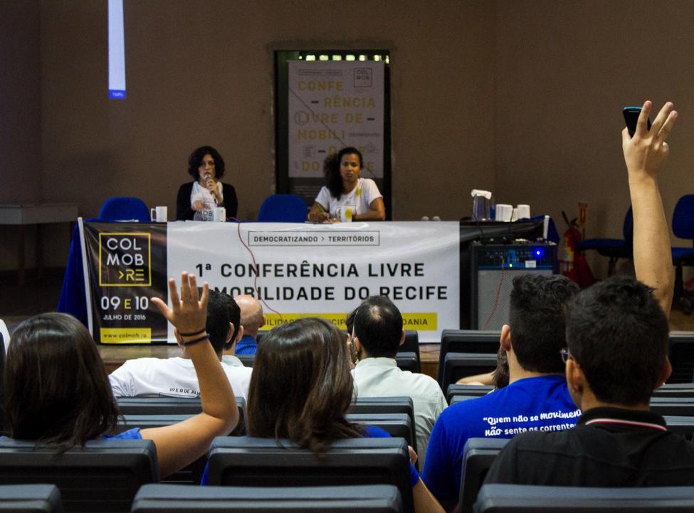 Plenária da 1a. Conferência Livre de Mobilidade do Recife (Colmob).